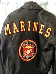 marine corps leather jacket united states
