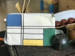 canvas zipper pouch makeup bag bridal party bag diaper pouch bridesmaid bag