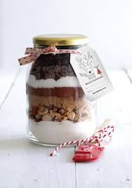 gift jar nut cranberry chocolate brownies makes 18 squares