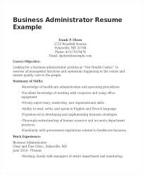 Business Development Objective Statement Resume Objective For Business Business Administration Resume