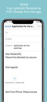 Modern Resume App Resume Builder Cv Designer On The App Store