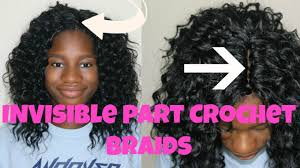 Crowshade Hair Style invisible part crochet braids with curly hair tutorial back to 1070 by wearticles.com