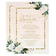 Quincenera Invitations Quinceanera Invitation Bilingual Pink Gold Foil