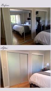 How To Cover Mirrored Closet Doors Best 25 Closet Door Makeover Ideas On Pinterest Door Makeover
