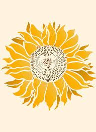 Sunflower Stencil Designs Large Bold Flower Stencil 1 Sheet Stencil Let The Sunshine