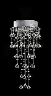 deborah floating crystal bubbles 3 lights chrome compact flush mount chandelier 11 wx27
