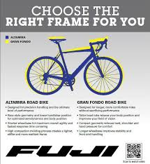 Fuji Size Chart Road Bike Find The Right Fuji For You Performance Bicycle Blog