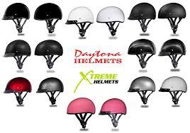Details About Daytona Skull Cap Half Helmet Slim Line Solid Dot Approved 3xs 4xl
