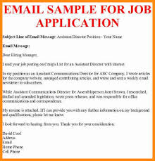 Job Application Email Format 6 Systematic Captures Sample For Jo