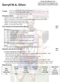 Sports Resume Template 47 Images College Resume For Athletes