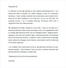 Cover Letter For Pharmacist Pharmacist Cover Letter Sample A
