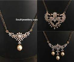black beads mangalsutra chain models