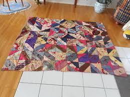 Vintage Primitive Home-Made Crazy Quilt Materials, wool, cotton ... & Image is loading Vintage-Primitive-Home-Made-Crazy-Quilt-Materials-wool- Adamdwight.com