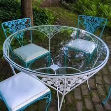 clear round patio glass table top