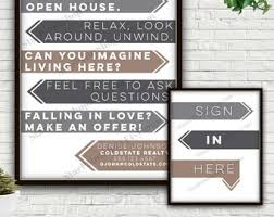 Open House Realtor Real Estate Personalized Sign Sign In Etsy