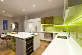 Decorations  Natural White Modern Kitchen With Natural Wooden - White modern kitchen
