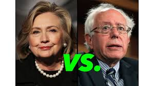 Resultado de imagem para pictures of Clinton versus sanders