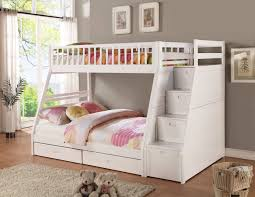 B Bunk Beds For Kids With Stairs  Loft Bed And Drawers Step