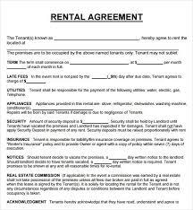 house rental agreement sample printable sample rental agreement form rental agreement