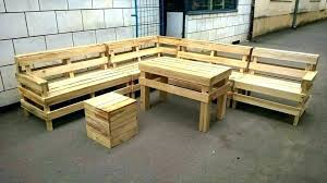 wooden pallet garden furniture. Pallet Garden Furniture Plans Wooden Sofa Made With Pallets Recycled Outdoor L Shape