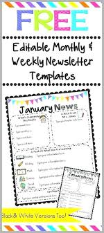 Monthly Newsletter Template For Teachers Free Editable Newsletter Template Best Of Download Templates For