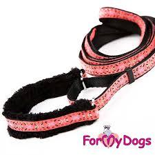 <b>Ошейник</b> с поводком розовый   ForMyDogs