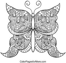 Butterfly Coloring Pages For Adults Printable Coloring Pages