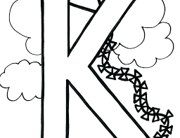 Letter K Coloring Page Letter K Coloring Sheet Bubble Pages For Kids
