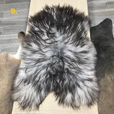 the rare and exquisite natural grey icelandic sheepskin rug sourced from the arctic circle this