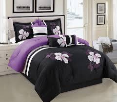 black and purple comforter sets king