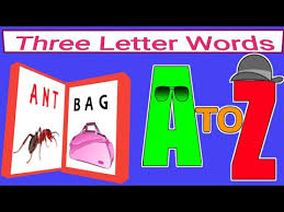 three letter words a to z you