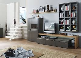 modern bellano wall storage unit with bookshelf opt led and cabinets thumbnail