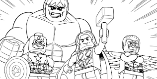 Lego Avengers Coloring Pages Getcoloringpagescom