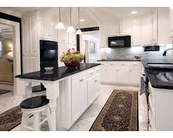 kitchen ideas white cabinets black countertop photo 2