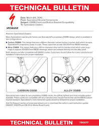 Technical Bulletin Specialized