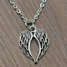 30pcs lot 21x16mm hollow double wings necklace jewelry gift for women vintage hollow double wings pendant necklace ihaf18826