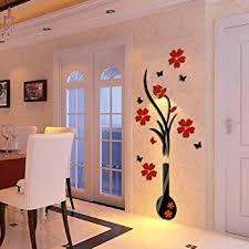 Small Picture 3D Wall Stickers Ikevan DIY Vase Flower Tree Crystal Arcylic 3D