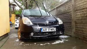 Toyota Prius TUNING 2005 Black, Gold Rims washing - YouTube