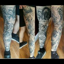 Tattoo Uploaded By Sam Haynes My Greek Mythology Leg Sleeve Which
