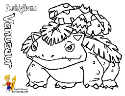 Small Picture Fo Real Pokemon Coloring Pages Bulbasaur Nidorina Free