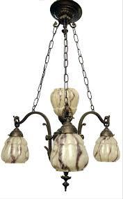 vintage french copper chandelier