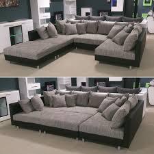 Wohnlandschaft Claudia Xxl Ecksofa Couch Sofa Mit Hocker