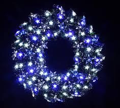 Wreath With Blue Lights Amazon Com Holiday Stuff Twinkling Stra Fiber Optic