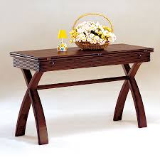 furniture of america kingston dark cherry wood casual console table