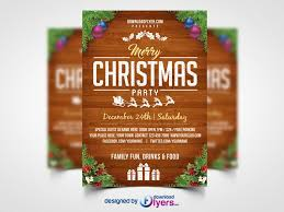 Free Christmas Flyer Templates Download Free Christmas Party Flyer Template Psd Flyer Psd