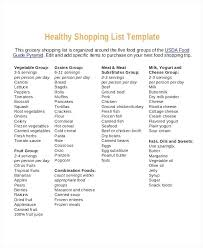 basic grocery shopping list healthy shopping list template basic grocery free food gemalog