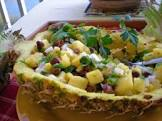 black bean  mango  pineapple salsa