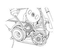 Repair instructions power steering pump belt replacement 20l