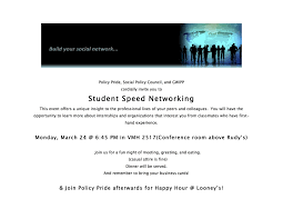 Student Speed Networking School Of Public Policy