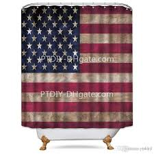 professional diy unique american flag shower curtain free metal hooks 12 pack stars and stripes white and red decor fabric bathroom set shower curtains big